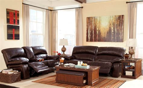dark brown living room furniture damacio dark brown reclining living room set from ashley