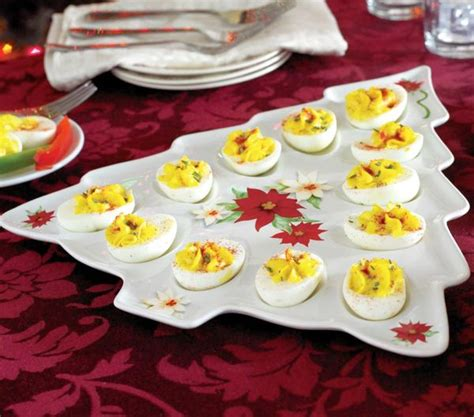 decorating deviled eggs for xmas tree shaped deviled egg serving tray
