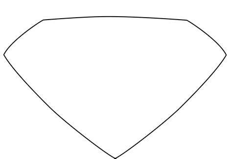 blank superman shield writing template clipart best