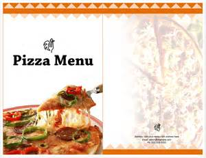 Pizza Menu Design Template by Pizza Menu Template Format Template