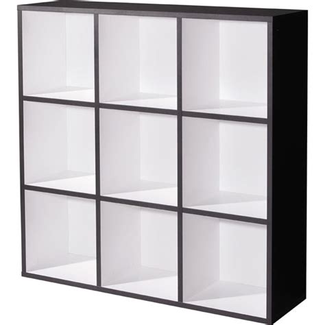 Linea anthracite white wall shelving unit 1550 110 11715