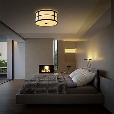 Bedroom Ceiling Lights Uk Modern Classic Black Metal Ceiling Lights With Fabric Shades Living Room Bedroom Dining Room
