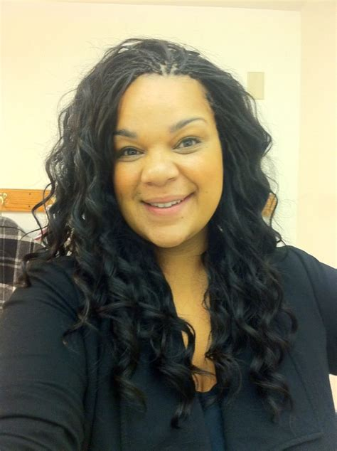 Tree braids with sew in weave in the middle   Yelp