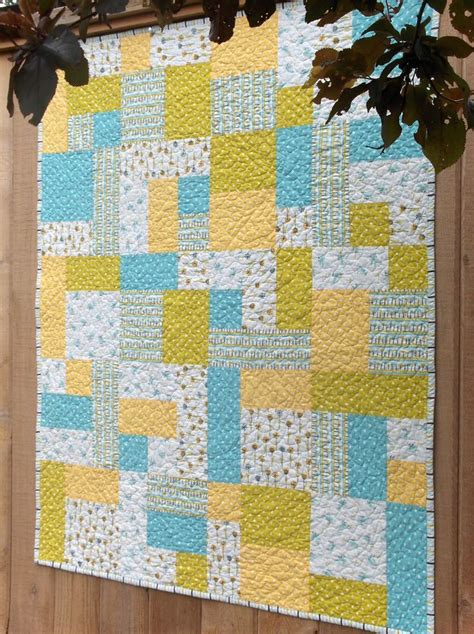yellow quilt pattern making more with less my happy garden baby quilt yellow