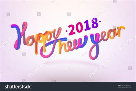 new year font style stock vector illustration happy new year 스톡 벡터 684495763