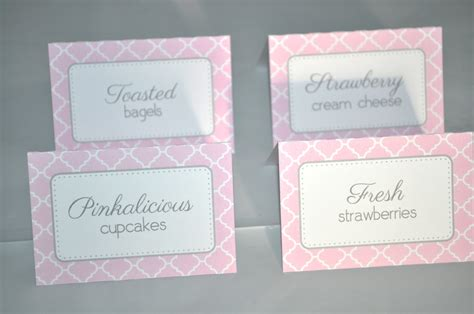 food labels for baby shower baby shower food label tent cards buffet labels