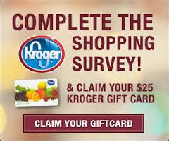 Kroger Return Policy On Gift Cards - kroger shopping survey gift card freebie house free sles sweepstakes and