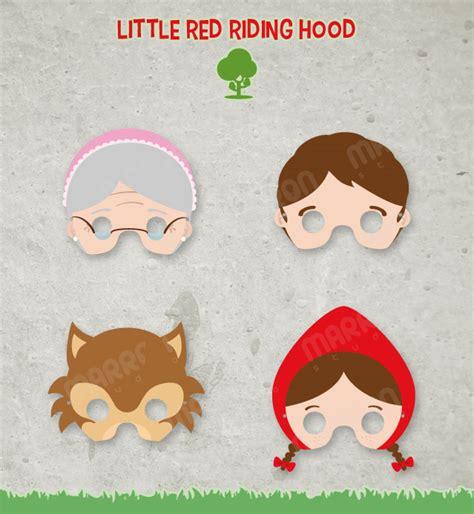 printable masks for little red riding hood marron studio little red riding hood tale wolf