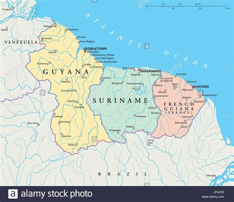 guyana south america map south america suriname guyana map atlas map of the
