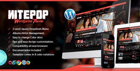 music store themes wordpress plantillas wordpress nite pop music band artist