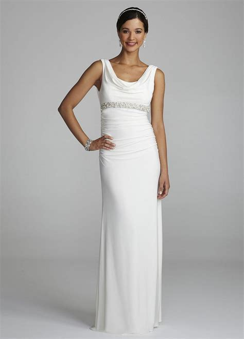wedding dresses in new jersey david s bridal cowl neck jersey wedding dress with beaded detail ebay