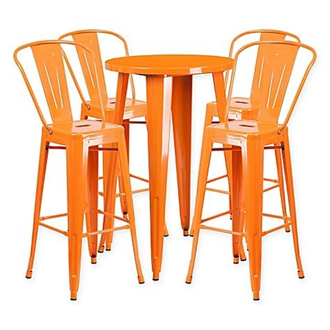 College Bar Stools And Tables by Flash Furniture 5 Metal Bar Table And Bar