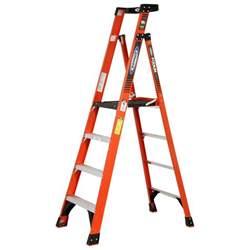 10 foot ladder home depot werner 10 ft reach fiberglass podium ladder with 300 lb