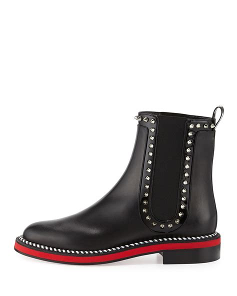louboutin boots christian louboutin nothing hill sole boot in black lyst