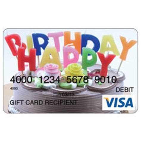 Visa Gift Card Custom Amount - birthday cake visa gift card findgift com