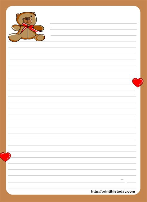 best paper to write on printable letter writing paper with lines printable