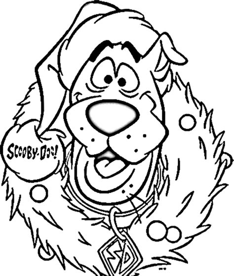 printable holiday color pages scooby doo christmas coloring pages coloring home