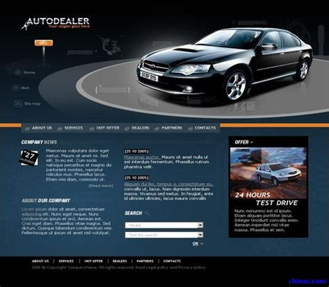 car html template sports car company website template free