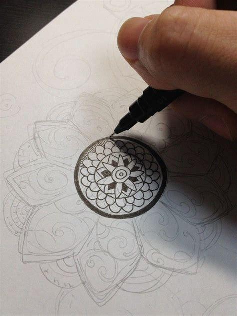 tattoo drawing process noah s art gallery botanical zentangle process 過程 2012
