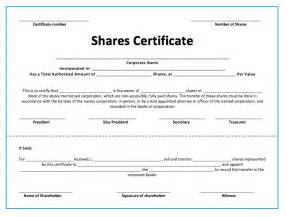 Shareholding Certificate Template by Stock Shares Certificate Template Microsoft Word Templates