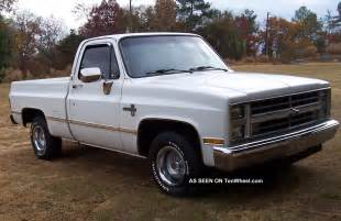 Chevrolet Trucks Pictures 1987 Chevy Silverado Fleetside Truck