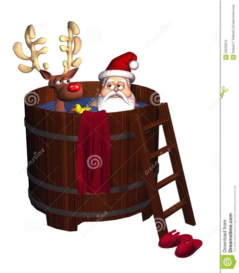 santa in a bathtub hot tub santa stock illustration image of graphic