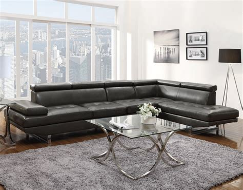 Grey Leather Sectional Sofa Coaster 503029 Grey Leather Sectional Sofa A Sofa Furniture Outlet Los Angeles Ca