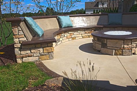 how to build a concrete bench seat custom concrete seating bench around gas firepit