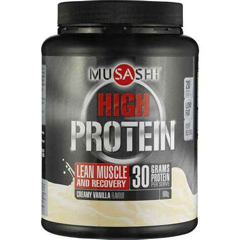 p protein powder musashi p30 protein powder vanilla 900g woolworths