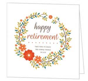 orange floral wreath happy retirement card greeting cards