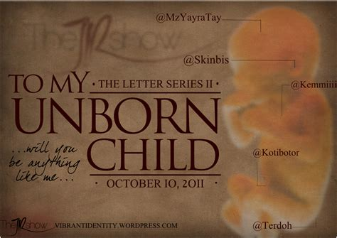 My Lovely Unborn Baby letter to my unborn child 5 the jr show