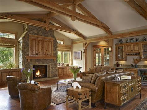 rustic style living room gamble residence rustic living room denver by mq