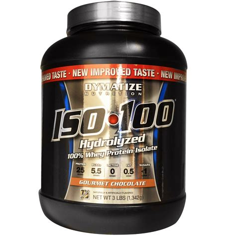 Dymatize Whey Protein Isolate dymatize nutrition iso 100 hydrolyzed 100 whey protein isolate gourmet chocolate 3 lbs