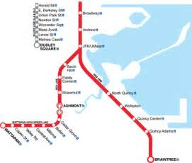 Mbta Map Red Line gallery for gt red line mbta
