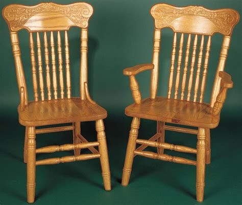 Amish Oak Dining Chairs Amish Press Back Dining Chair