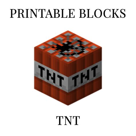 minecraft tnt block template tnt printable minecraft tnt block papercraft template