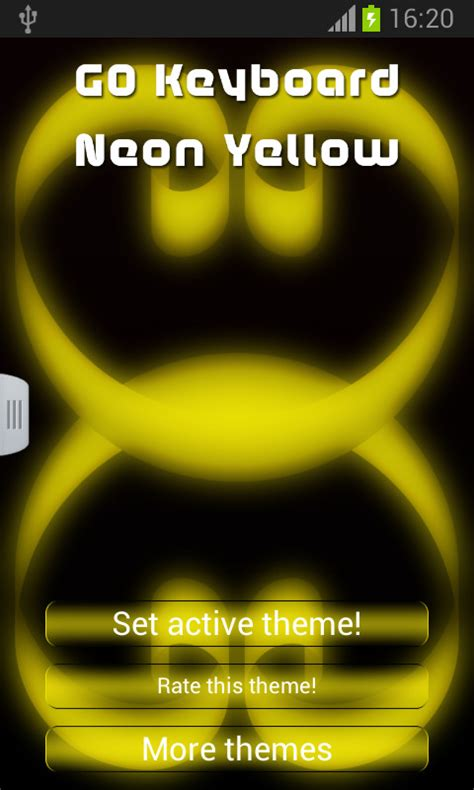 go keyboard themes yellow go keyboard neon yellow free android keyboard download