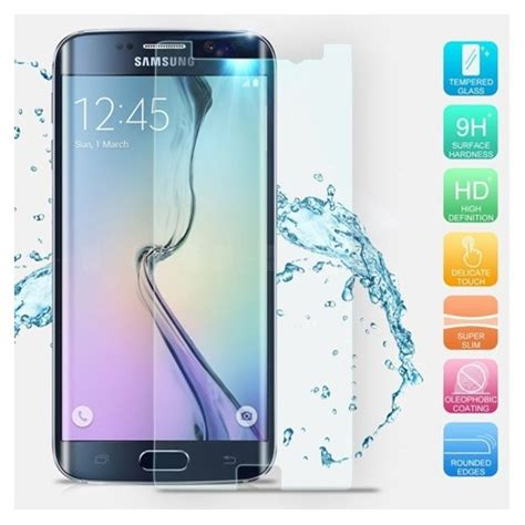 Tempered Glass For Samsung Galaxy S6 Edge Blue tempered glass 0 3 mm blue for samsung galaxy s6 edge