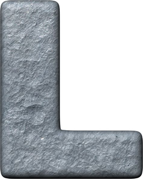 Metal L by Presentation Alphabets Metal Letter L