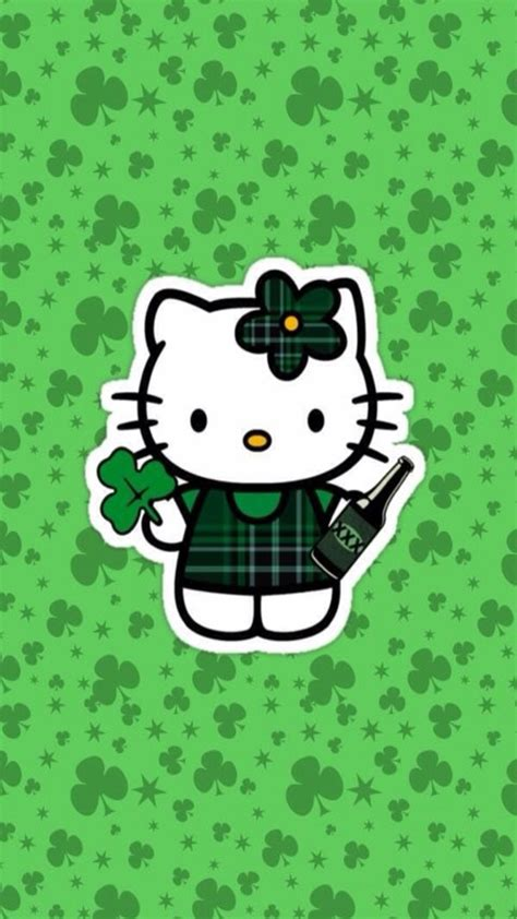 hello kitty wallpaper st patricks day iphone wallpaper st patrick s day tjn iphone walls