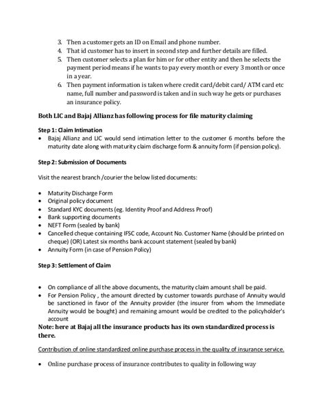 bajaj allianz policy payment service differntiating of lic and bajaj allianz a