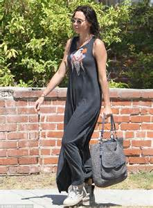 High Street Wedding Dress Minnie Driver Embraces Casual Cool In Maxi Dress And Trainers As She Steps Out With Wet Hair And