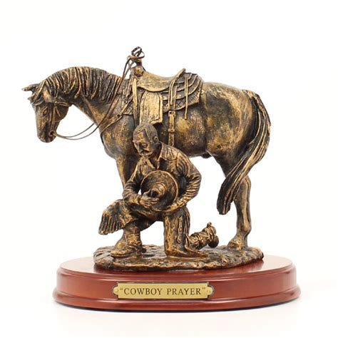 Home Decor Statue by Mf 59104 Western Moments Statue Quot Cowboy Prayer Quot