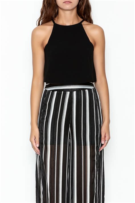 swing crop top olivaceous crepe swing crop top from new jersey by mint