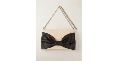 Valentino Flat Bow Clutch by Lyst Valentino Bow Clutch In Black