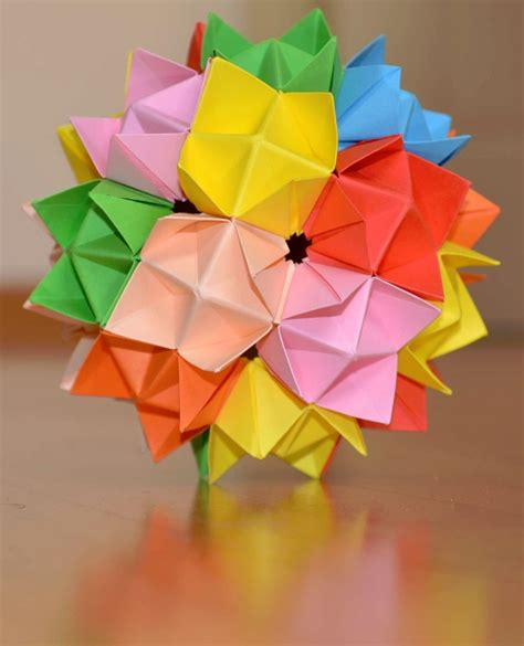 how to make an origami spike 17 best images about kusudama on spikes