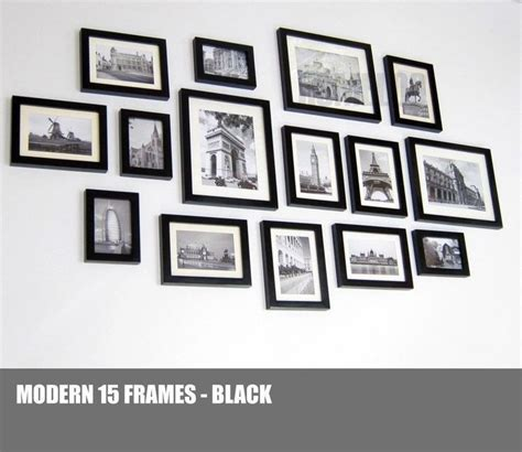 wall collage set details about homeloo wood wooden photo picture frame wall