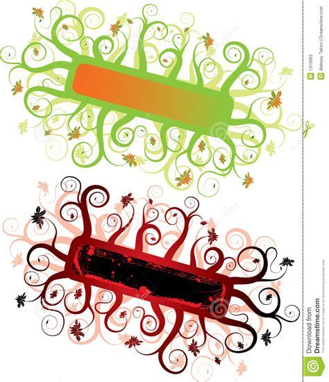 floral grunge frame elements royalty free vector image abstract grunge floral frame elements for design vector stock vector illustration of ribbon