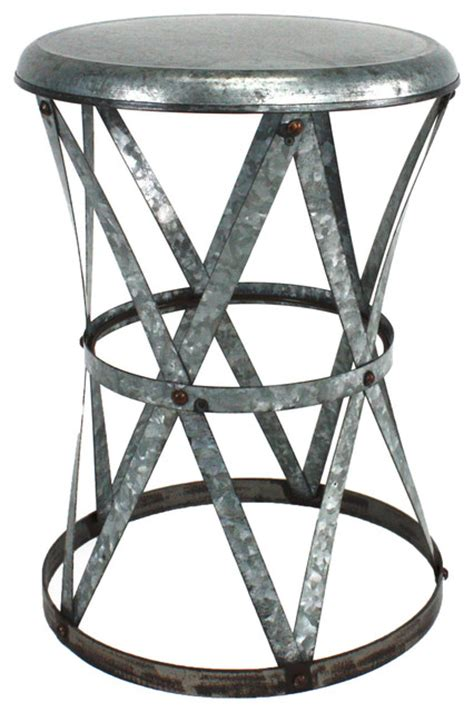 weston metal stool industrial accent and garden stools