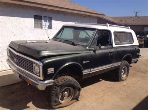 Californa Blazer find used 1972 k5 blazer back yard find in escondido